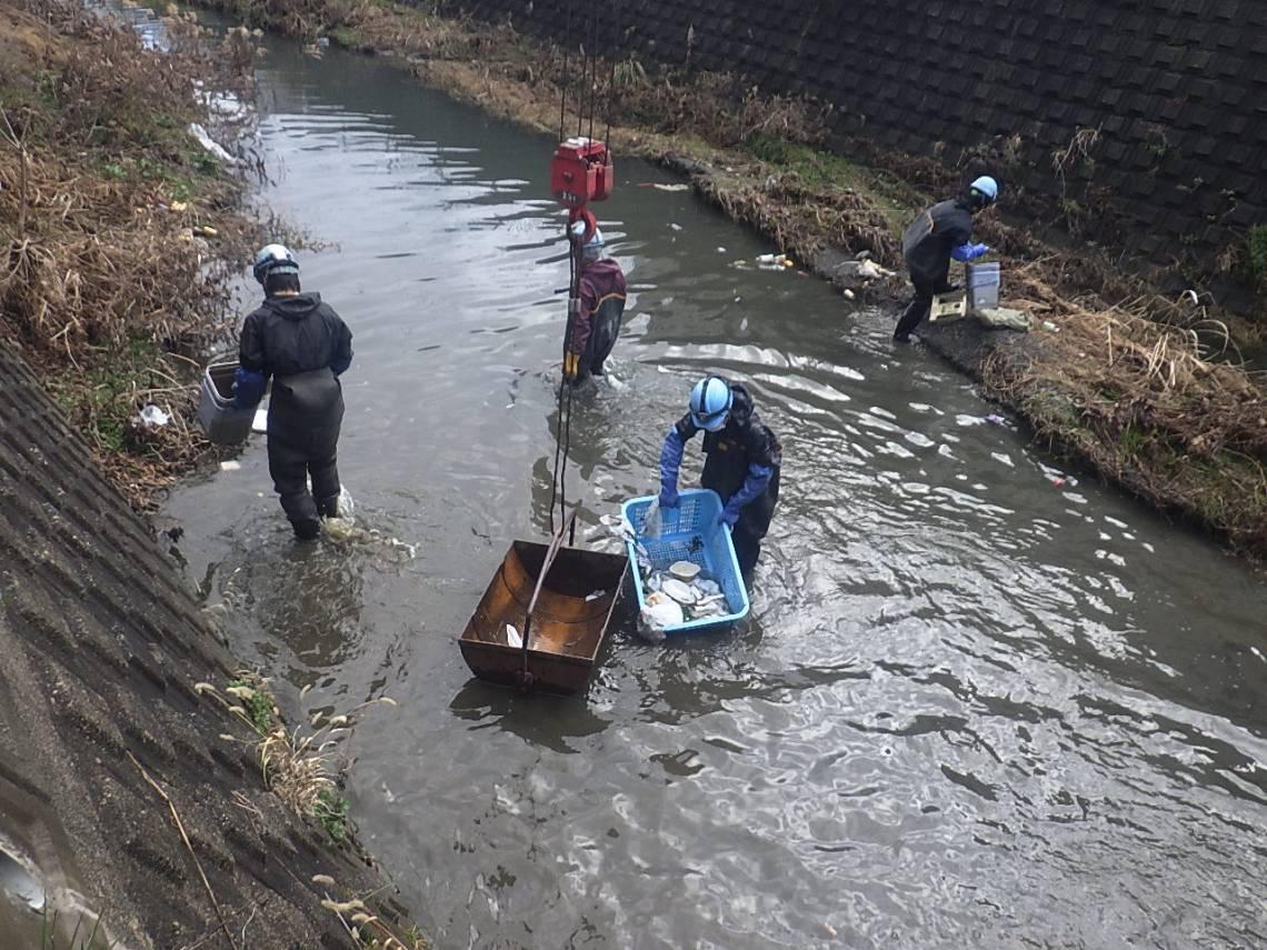 糸田川河川清掃業務